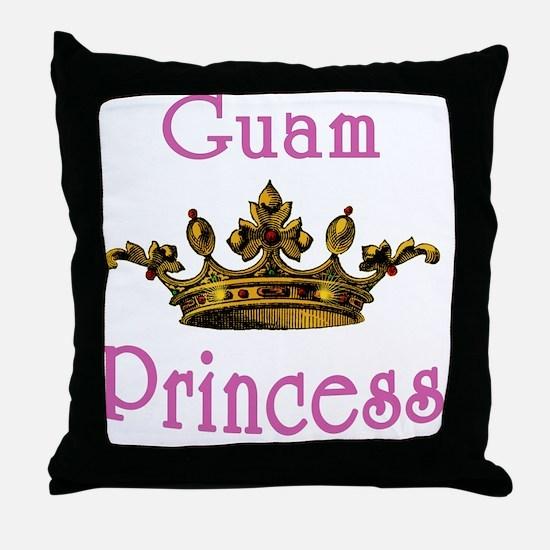 Guam Princess with Tiara Throw Pillow