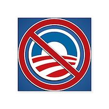 "Anti Obama Logo Square Sticker 3"" x 3"""