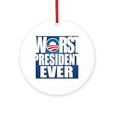 worst president ever Round Ornament