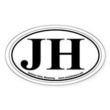 "Jackson Hole, Wyoming Oval ""JH"" Car Decal"