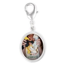 Dustin and friends Silver Oval Charm