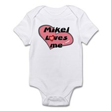 mikel loves me  Infant Bodysuit