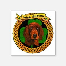 "--CELTIC-IRISH-SETTER-SMALL Square Sticker 3"" x 3"""
