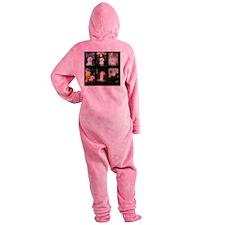 T-Famous Art-BichonFrise Footed Pajamas