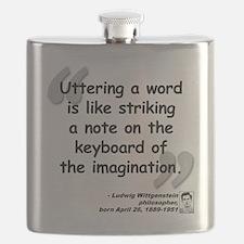 Wittgenstein Word Quote Flask