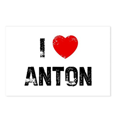 I * Anton Postcards (Package of 8)