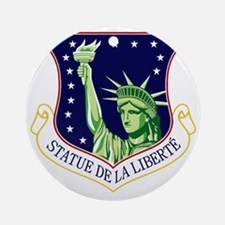 48th FW - Statue De La Liberte Round Ornament