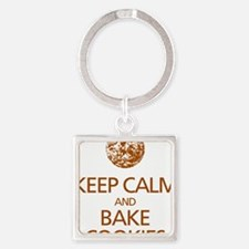 Keep Calm Bake Cookies2 copy Square Keychain