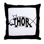 Thor Fish Throw Pillow