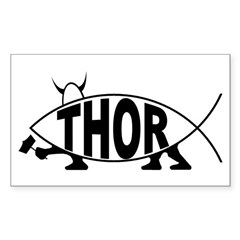 Thor Fish Rectangle Decal