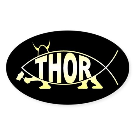 Thor Fish Oval Sticker