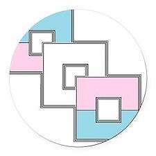 Transgender Pride Round Car Magnet