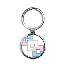 Transgender Pride Round Keychain