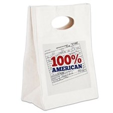 Obama is 100% American Canvas Lunch Tote