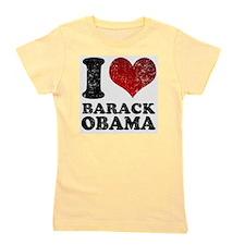 I Love Barack Obama Girl's Tee