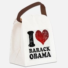 I Love Barack Obama Canvas Lunch Bag