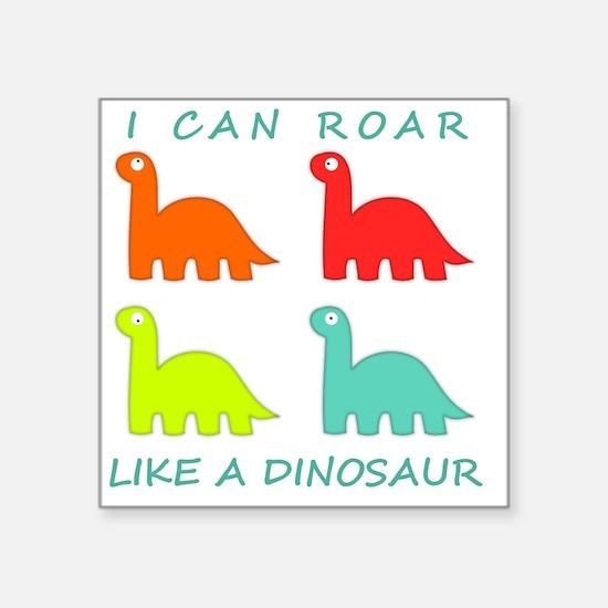 "4 Dinosaurs Square Sticker 3"" x 3"""