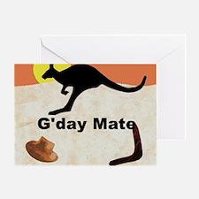 Kagaroo Jillo, Gday Mate Greeting Card