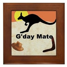 Kagaroo Jillo, Gday Mate Framed Tile