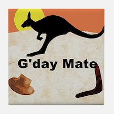 Kagaroo Jillo, Gday Mate Tile Coaster