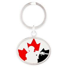 Team Canada Oval Keychain