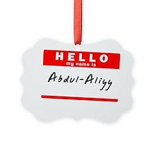 Abdul-Aliyy Ornament