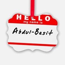 Abdul-Basit Ornament