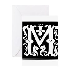 M-M letter Message for love Greeting Cards