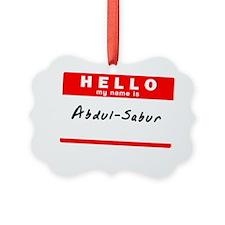 Abdul-Sabur Ornament