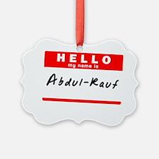 Abdul-Rauf Ornament