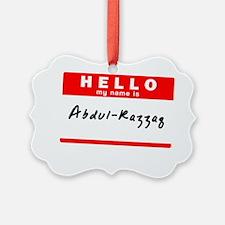 Abdul-Razzaq Ornament