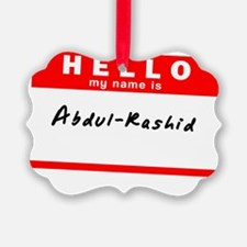 Abdul-Rashid Ornament