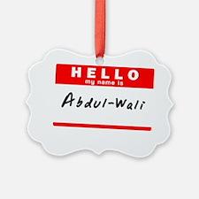 Abdul-Wali Ornament