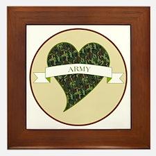 Love Heart Army Framed Tile