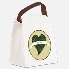 Love Heart Army Canvas Lunch Bag