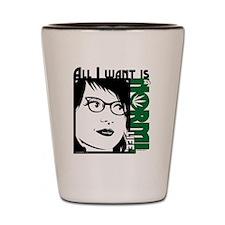 Glasses Woman Shot Glass