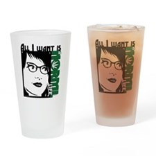 Glasses Woman Drinking Glass