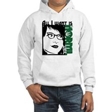 Glasses Woman Hoodie Sweatshirt