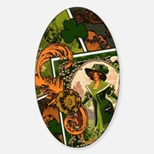 VINTAGE-IRISH-B-IPAD-SLEEVE.gif Sticker (Oval)