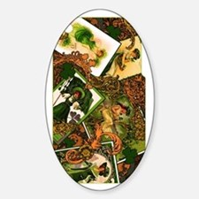 VINTAGE-IRISH-IPHONE-3G- Sticker (Oval)