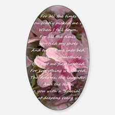 mother day Sticker (Oval)