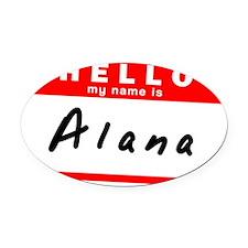 Alana Oval Car Magnet