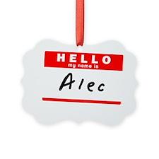 Alec Ornament