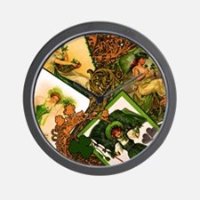 Vintage-Irish-Ladies-THROW-PILLOW Wall Clock