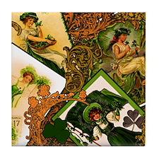 vintage-Irish-ladies-STADIUM-BLANKET Tile Coaster