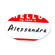 Alessandra Oval Car Magnet