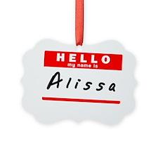 Alissa Ornament