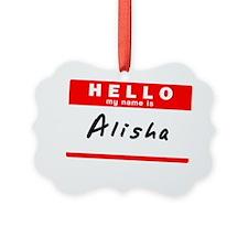 Alisha Ornament