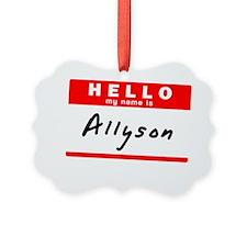 Allyson Ornament