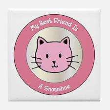 Friend Snowshoe Tile Coaster